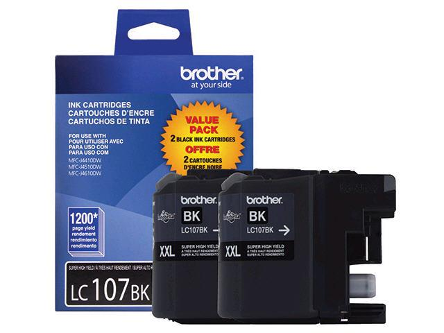 Brother LC107 Super High Yield Ink Cartridge - 2 Pack