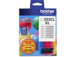 Brother LC203 Ink Cartridge - Colour 3 Pack